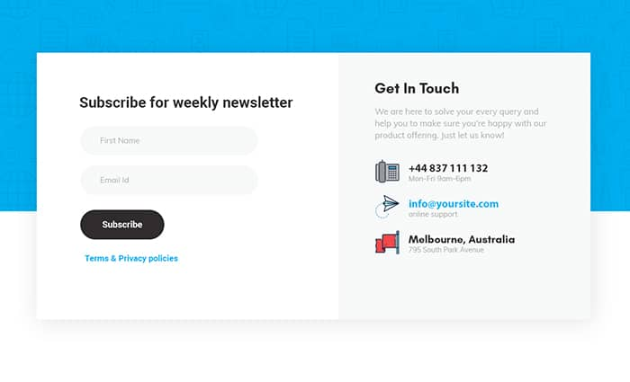 Squeeze page forms