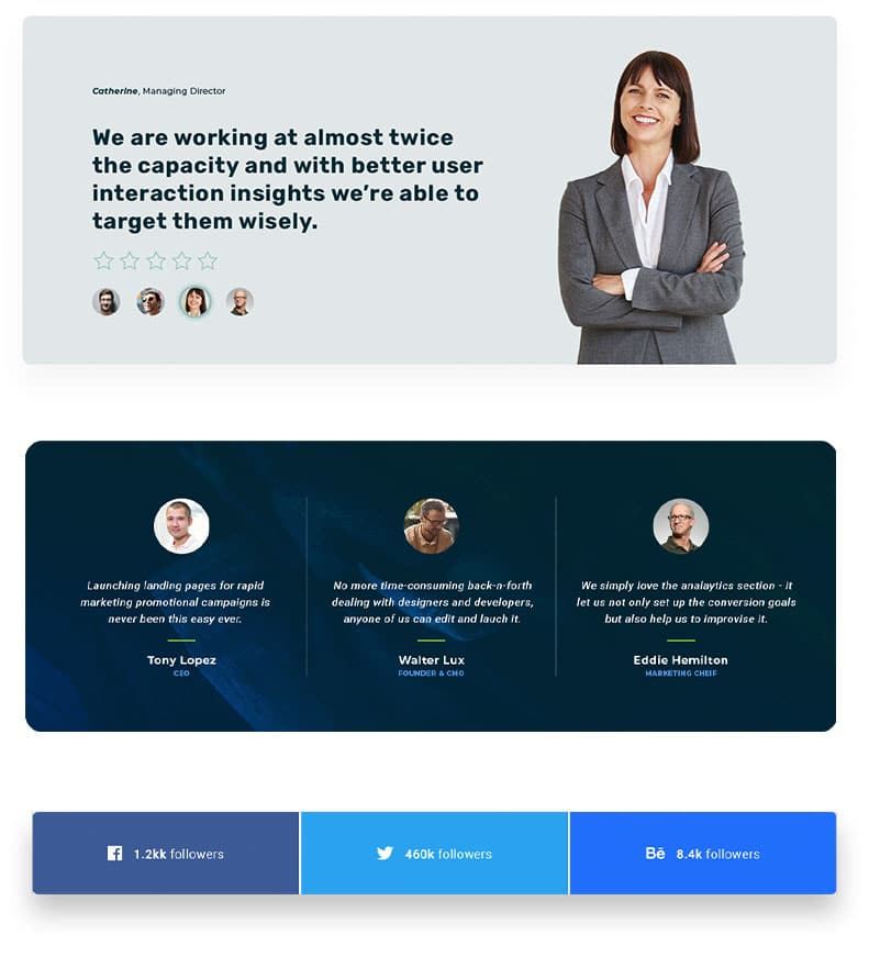 best landing page Social Proof