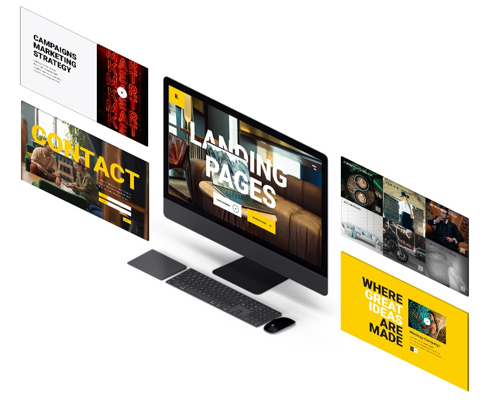 best landing page overview image