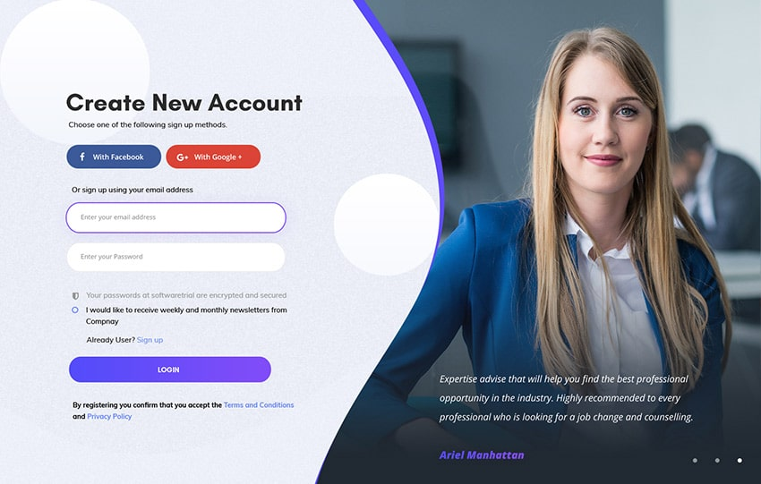 best landing page forms