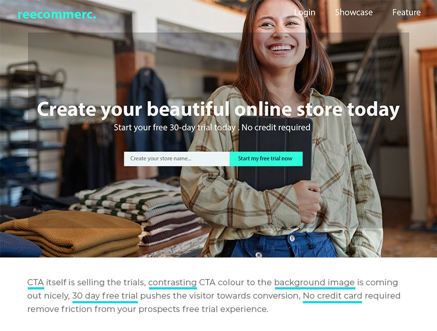 website landing page Compelling Call-to-action (CTA)