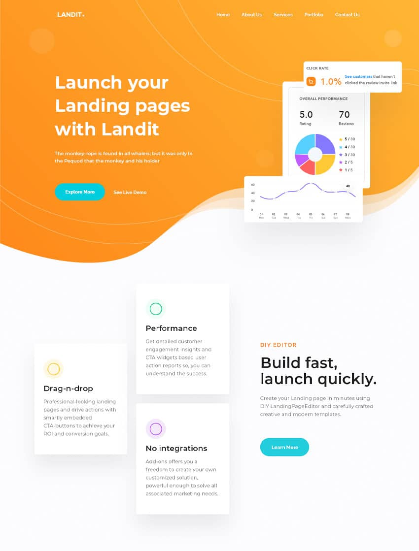 Website landing page - Write impressive copy
