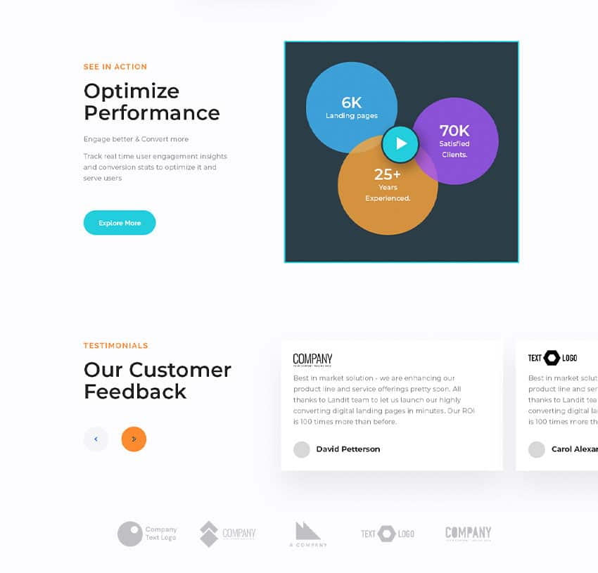 Write an impressive copy for website landing pages