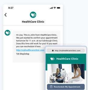 SMS marketing example image